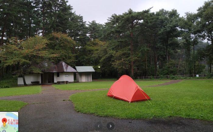 北上総合運動公園大堤公園キャンプ場